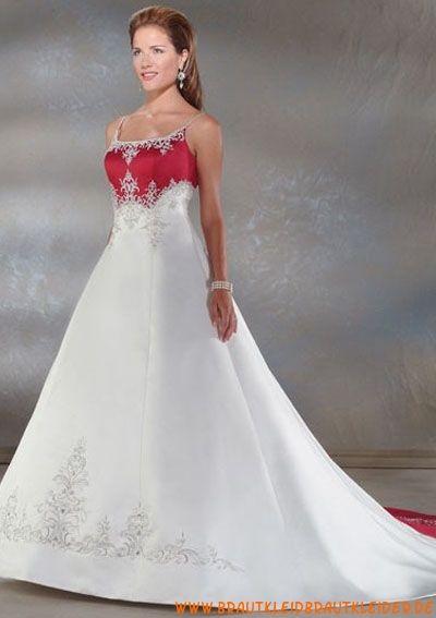Elegante Brautmode aus Satin A-Linie mit Applikation