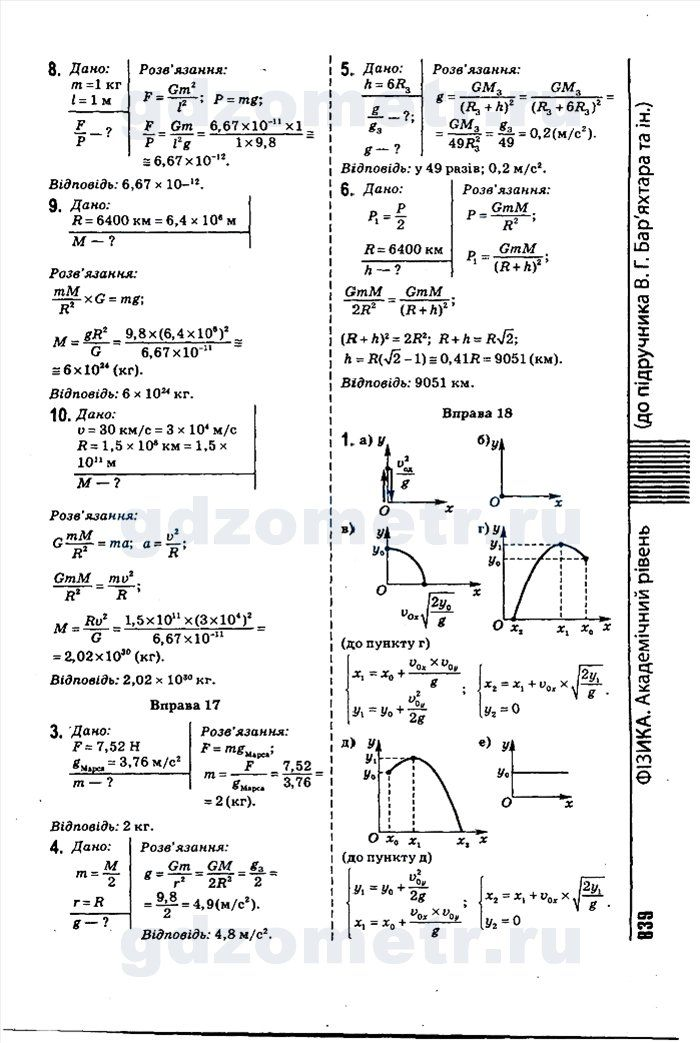 Гдз по физике 10 класс барьяхтар