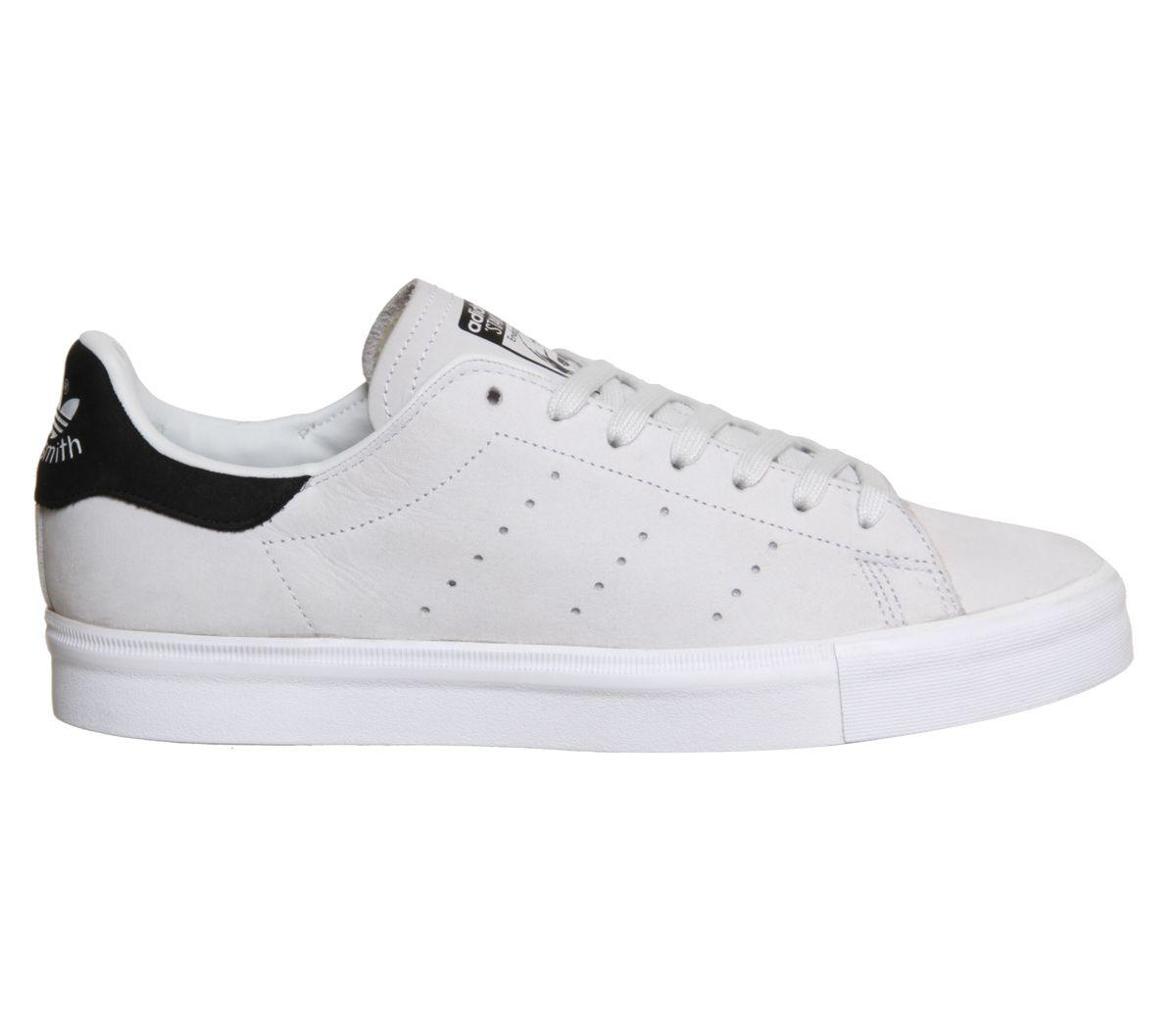 Adidas Stan Smith Vulc White Black Nubuck - Unisex Sportschuhe