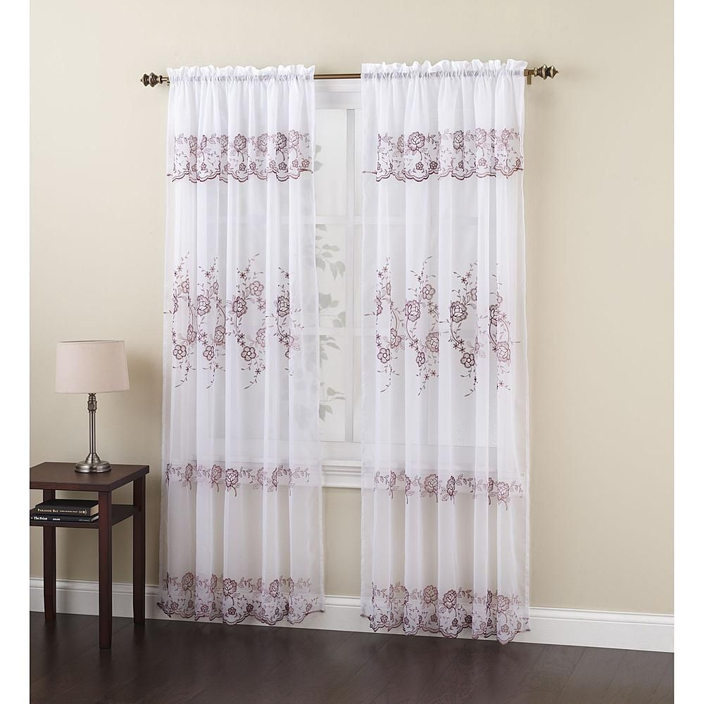 10 98 Embroidered Voile Panel Sheer Beauty From Sears Kmart