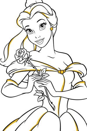 Belle and Rose Colouring Page | disney | Pinterest | Belle and ...