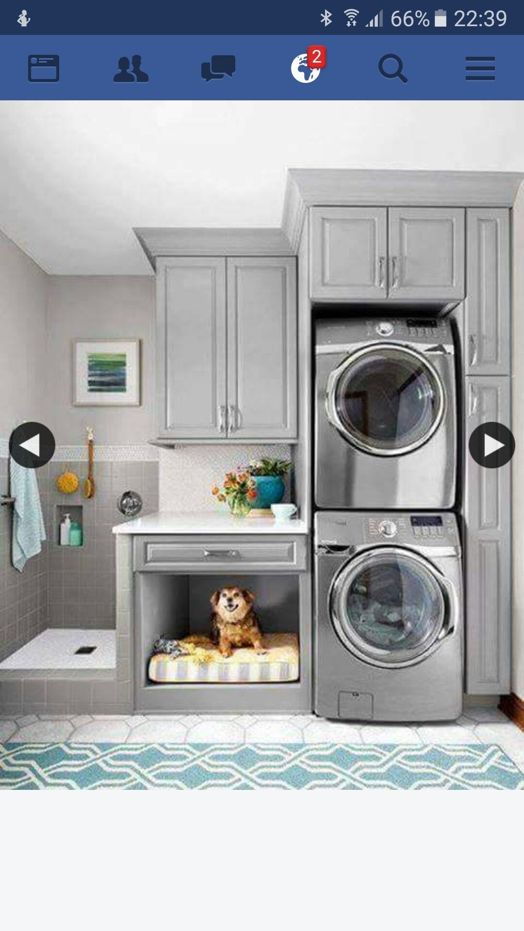 Laundry Room for Vertical Spaces A simple rearrangement of task areas takes advantage of vertical space to make cleanup easier for both two and