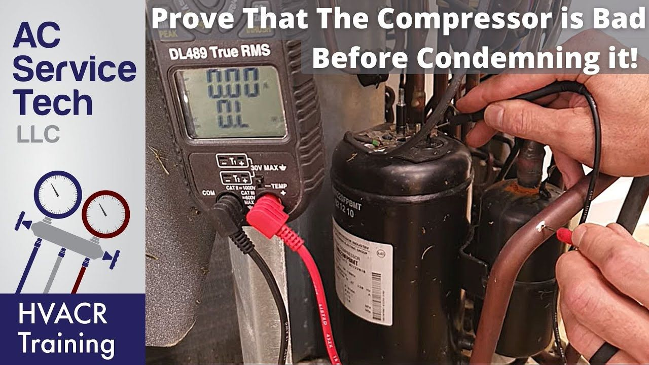 Testing If An Hvacr Compressor Is Shorted To Ground Open Or Overload Tripped Youtube Hvac Filters Hvac Air Conditioning Hvac Repair