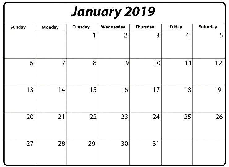 2019 January Calendar UK 150+ January 2019 Calendar Pinterest