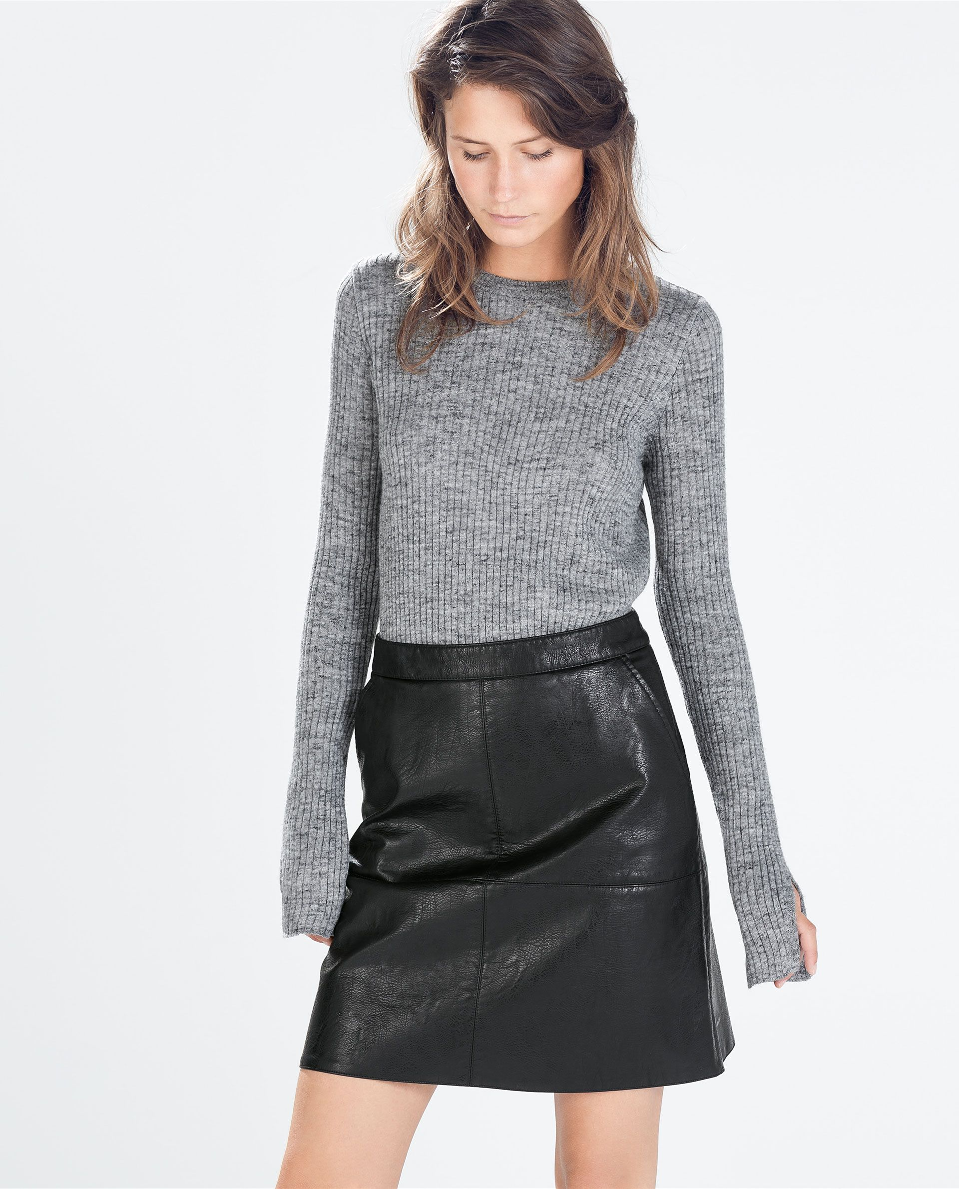ZARA - DAMES - A-LIJN ROK VAN SYNTHETISCH LEER | Wish List ...
