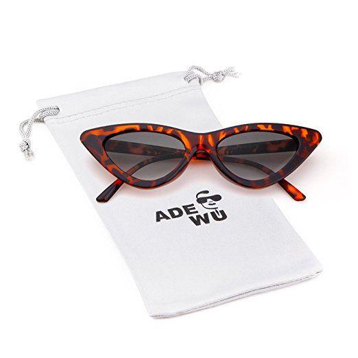 a2c050b3c7c6 ADEWU Cat Eye Sunglasses Clout Goggles for Girls Women, Vintage Style Retro Kurt  Cobain Outdoor