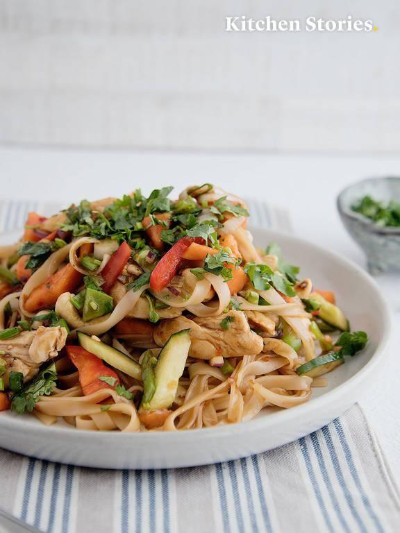 Asiatischer Reisnudelsalat mit Hähn