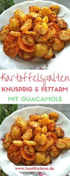 knusprige fettarme kartoffelecken mit wurziger guacamole lecker vegan glutenfrei rezept
