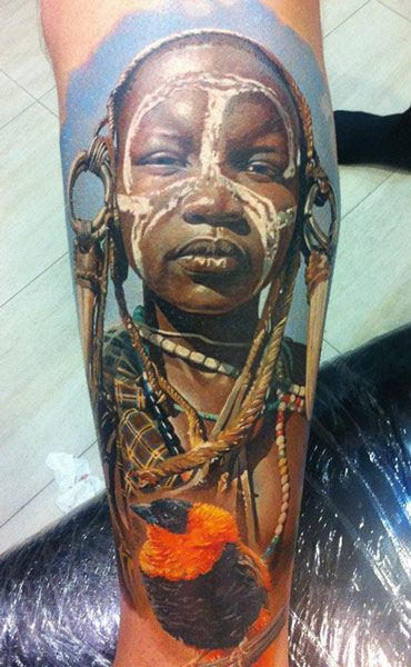 Portraits Tattoo By Dmitriy Samohin Post 6271 Portrait Tattoo African Tattoo Tattoos Gallery