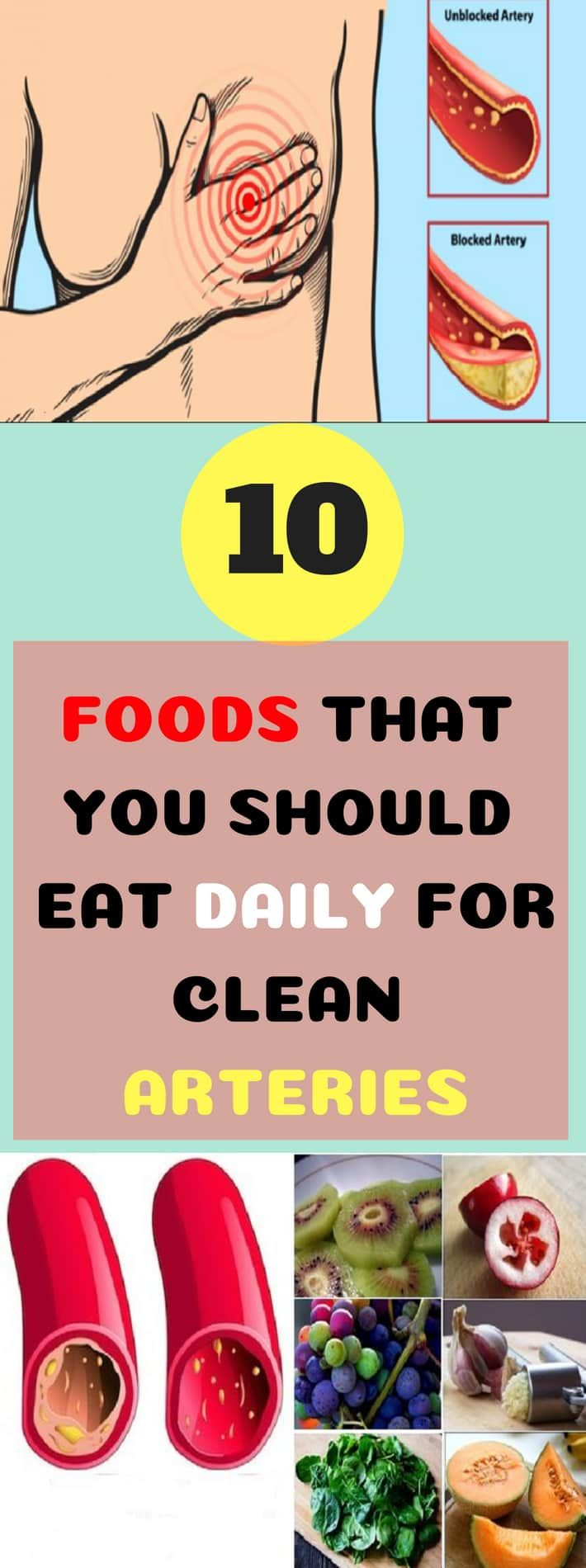 10 Foods That You Should Eat Daily For Clean Arteries Food Clean Arteries Daily Clean Arteries Health Arteries