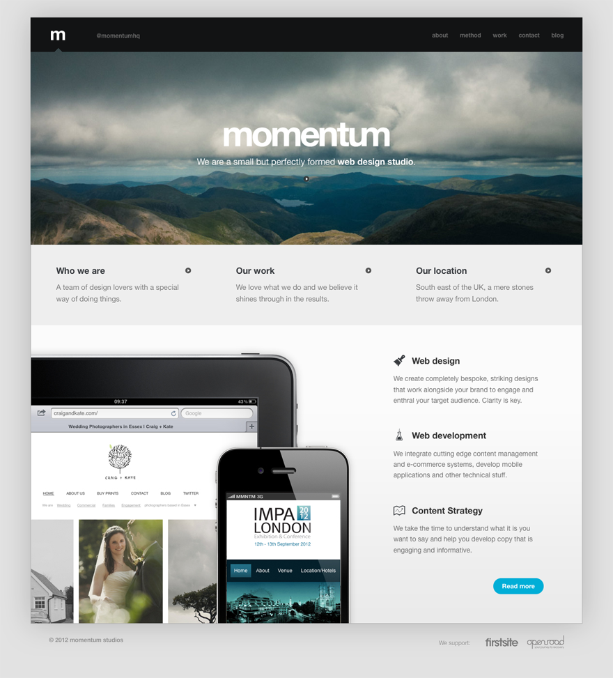 Momentum Website Web Design Studio Web Design Simple Website Design