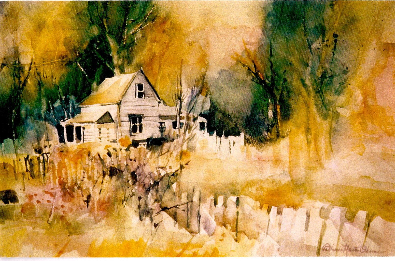 Mendocino Cottage I painted this in watercolor by Patricia Osborne