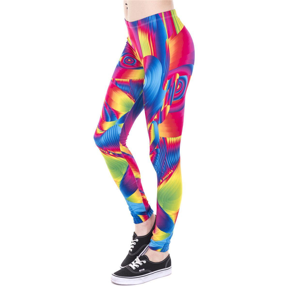 5891adc348b9b J43865 Lady Ultra Color Face 3D Graphic Print Stretchy Pants Yoga Soft  Leggings | eBay