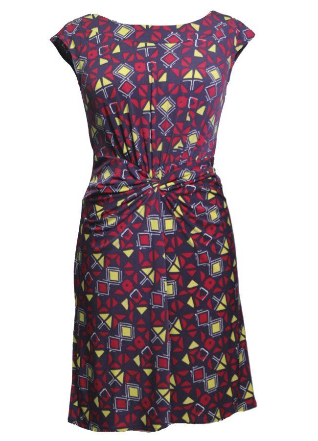 Add some colour with this geometric print Aviraté dress