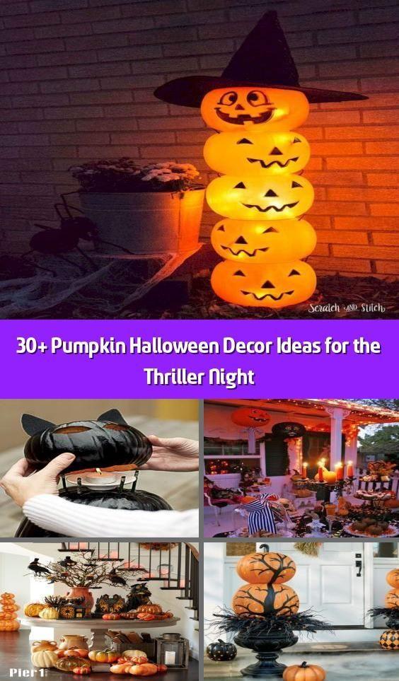 30 Pumpkin Halloween Decor Ideas for the Thriller Night  Halloween season m