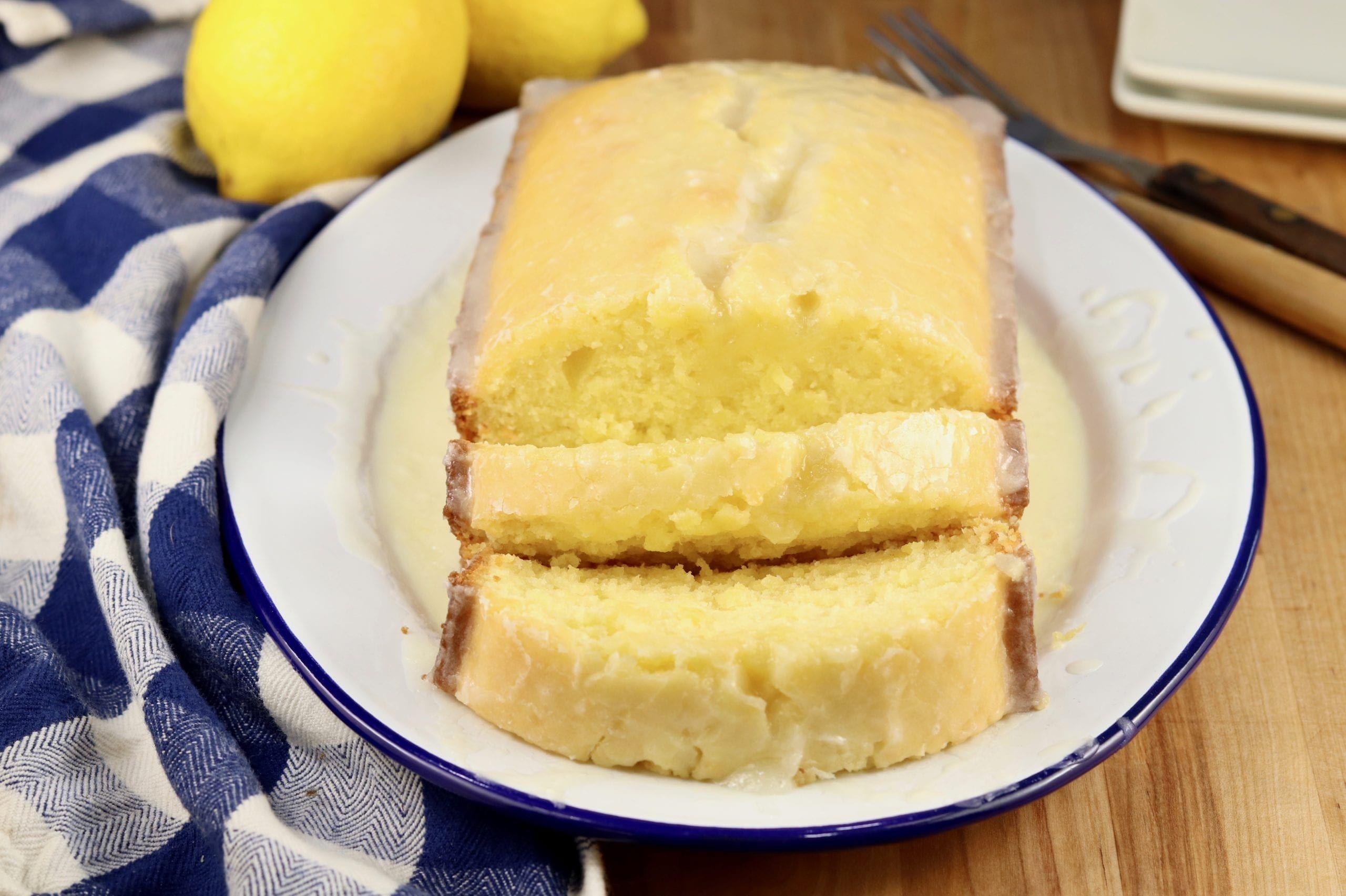 Lemon Pound Cake With Buttermilk Lemon Glaze Miss In The Kitchen In 2020 Pound Cake Lemon Pound Cake Pound Cake Recipes