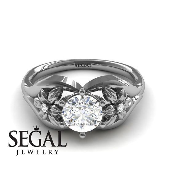 Engagement Diamond ring  Vintage White diamond by SegalJewelry