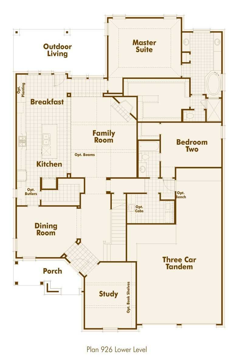 new home plan 926 in forney tx 75126 highland homes house plans