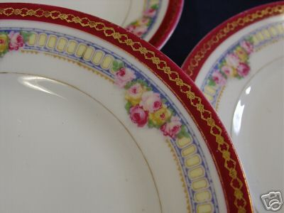 Antique rose porcelain plates & Antique rose porcelain plates | Porcelain Plates / Tureens / Bowls ...