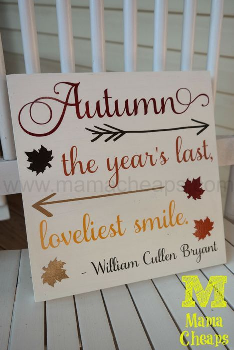 After a crazy-busy Summer, I am thrilled to be grabbing some pockets of time to make some crafts! I wanted to share my latest project with you – this sign was hanging on my kitchen wall withi…