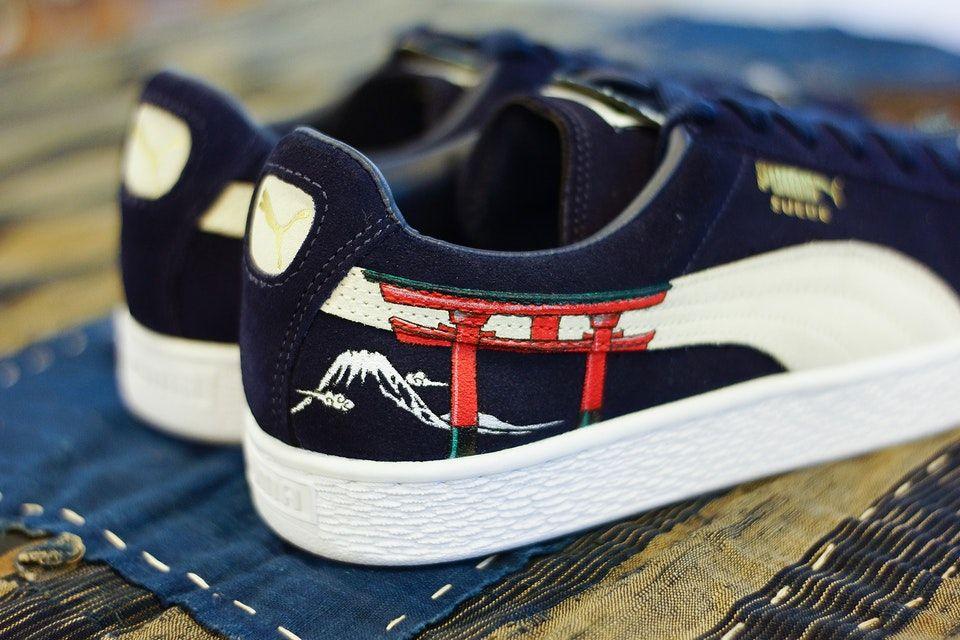 1b40532c2a26c2 The PUMA Suede Sees a Traditional Ukiyo-E Custom