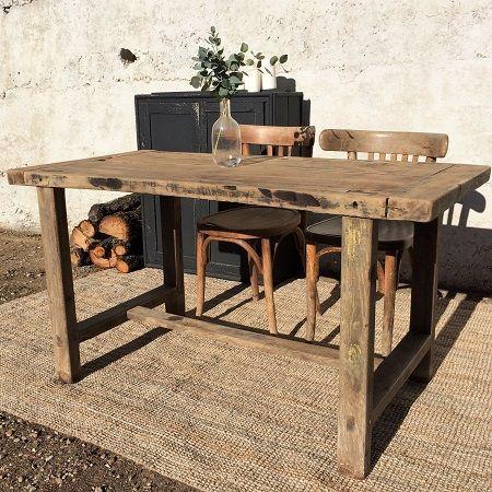 Beau Etabli, Table De Ferme, Table De Métier, Table Ancienne, Bois Brut,