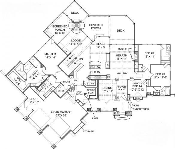 Stoneybrook Lodge House Plan | Elegant House Plans