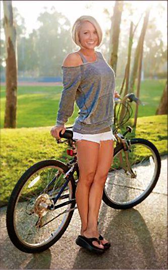 Muscle girl bike porn