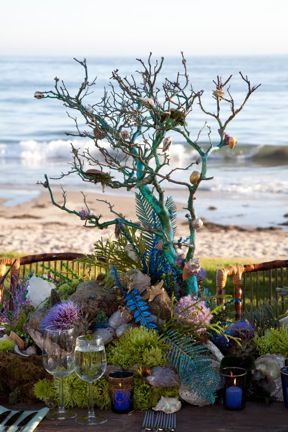 Ocean Themed Flower Arrangements Triciafountainedesign Com Ocean Wedding Theme Under The Sea Theme Underwater Theme