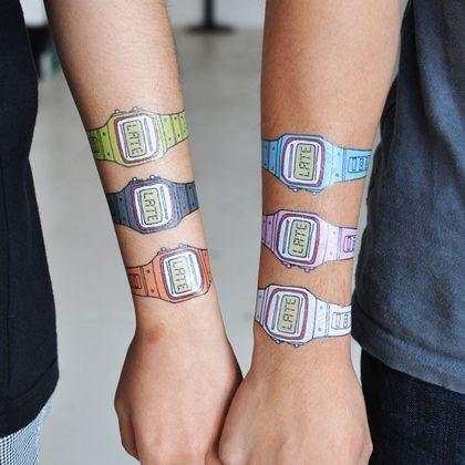 JAAA! Sånne må jeg få-  Tattly™ Designy Temporary Tattoos — You're Very, Very Late (Set) - StyleSays