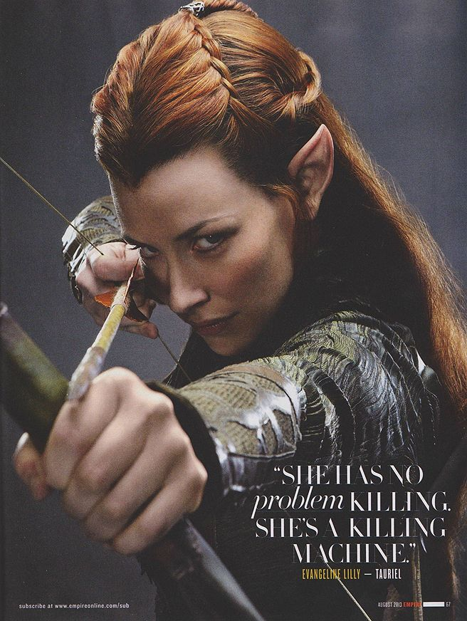 The lovely Evangeline Lilly as Tauriel in The Hobbit 2: The Desolation of Smaug