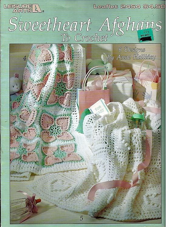 Sweetheart Afghans to Crochet Pattern Book Leisure Arts 2454 | Baby ...