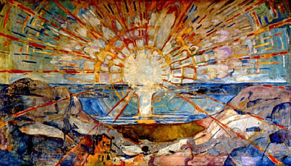 Edward Munch, Il sole, (1912), opera murale, Università di Oslo