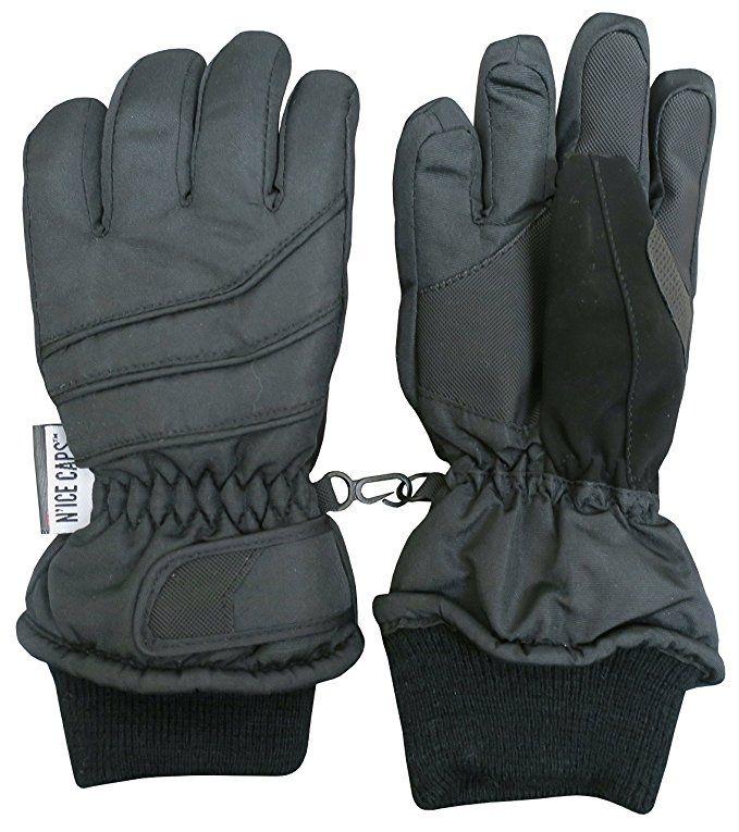 d27f15e7c6e2 Amazon.com  N Ice Caps Kids Bulky Thinsulate Waterproof Winter Snow Ski  Glove With Ridges (3-4yrs