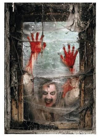 THE ZOMBIES ARE COMMING! Spook everyone with this scary realistic zombie right at your window