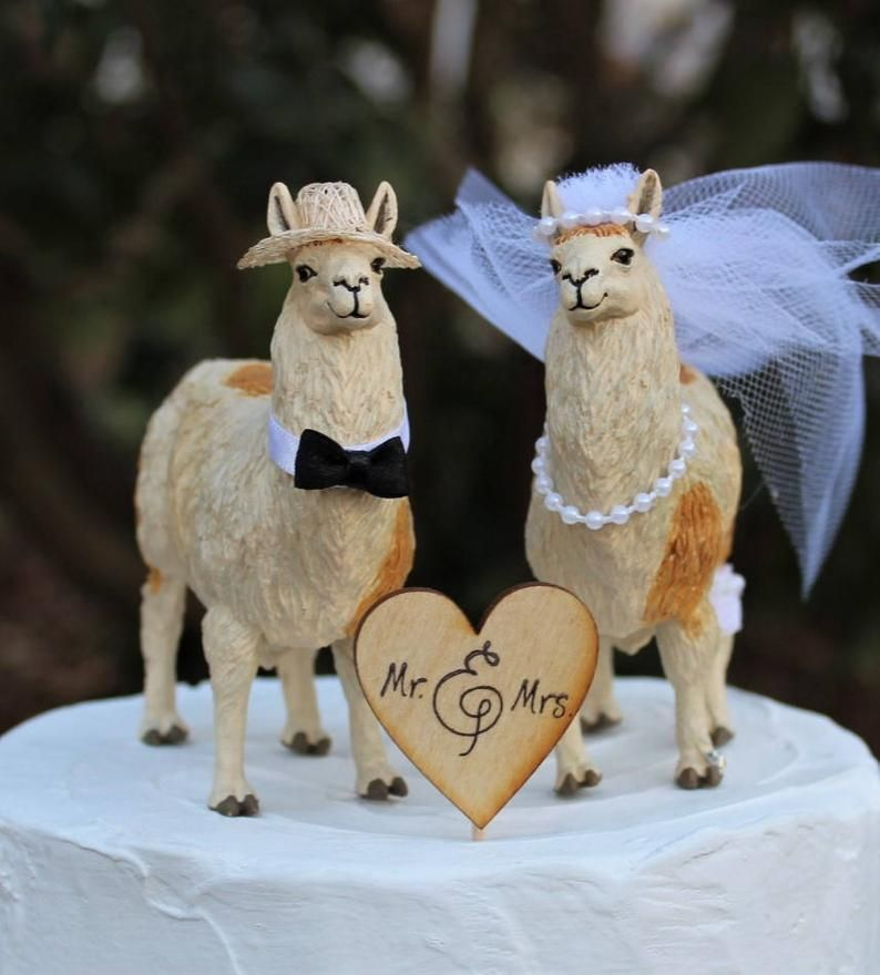 Llama cake topper etsy in 2020 funny cake toppers