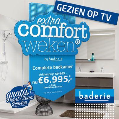 Gezien op TV, deze prachtige ACTIE badkamer! Bekijk op http://www ...