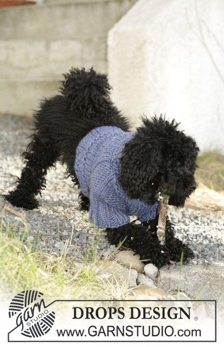 """Jersey para perro DROPS en """"Eskimo"""". Patrón gratuito de DROPS Design ..."""