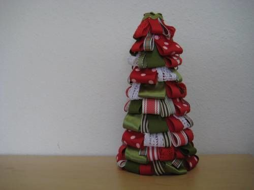 the stir ribbon christmas tree craft tutorial photos