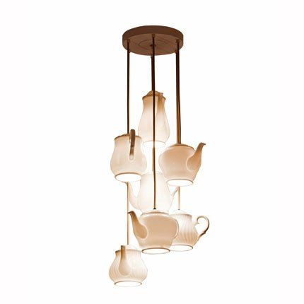 suspension teapot grouping roche bobois porcelaine blanche th i res et suspension. Black Bedroom Furniture Sets. Home Design Ideas