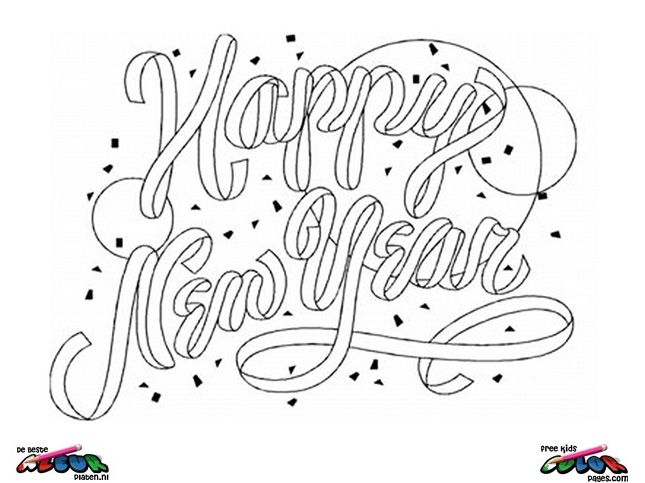 New Year\'s Eve Coloring Pages | New Year\'s Eve Coloring page - New ...