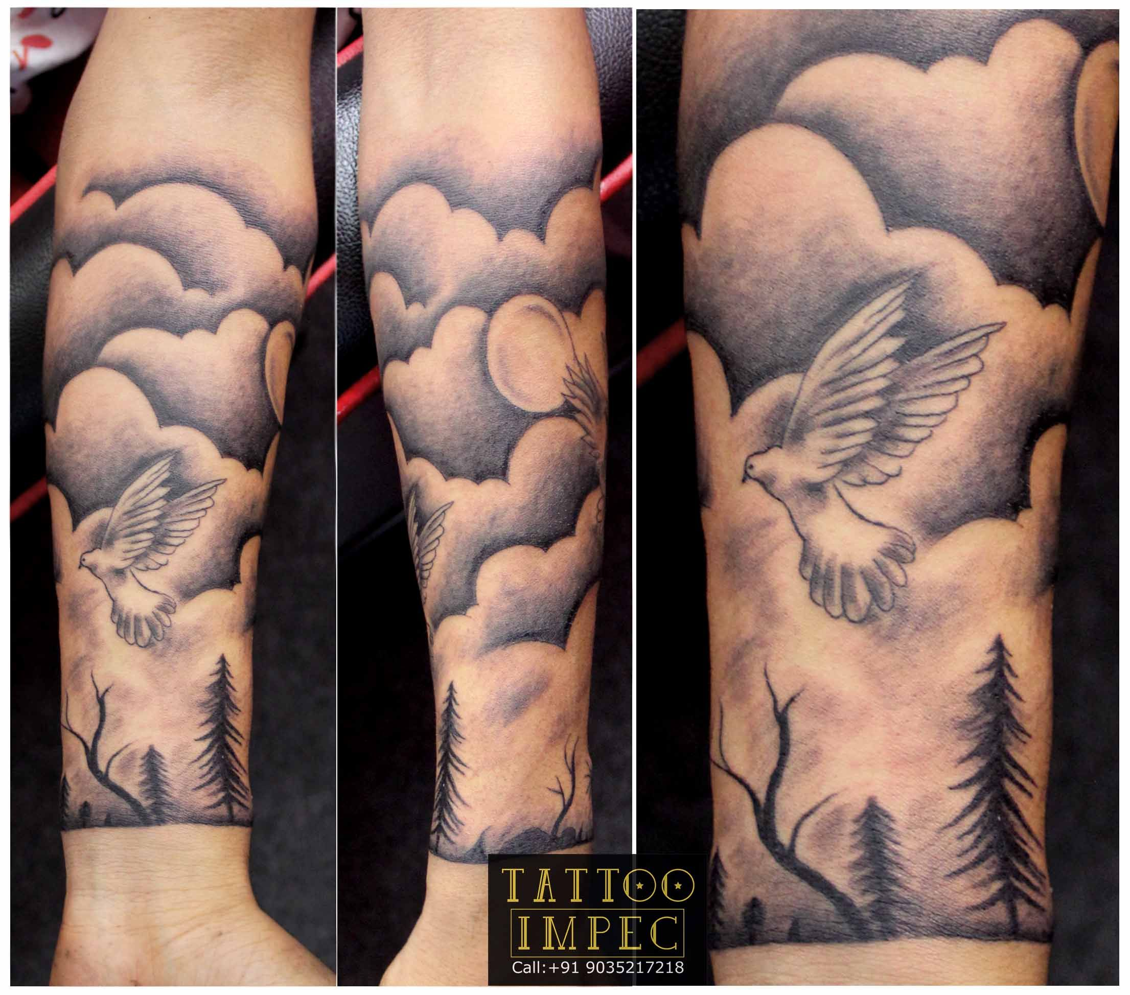 Half Hand Tattoo Pigeon Divine World Live Inspirational Tattoo