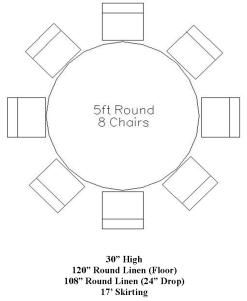 5ft Round Table Google Search