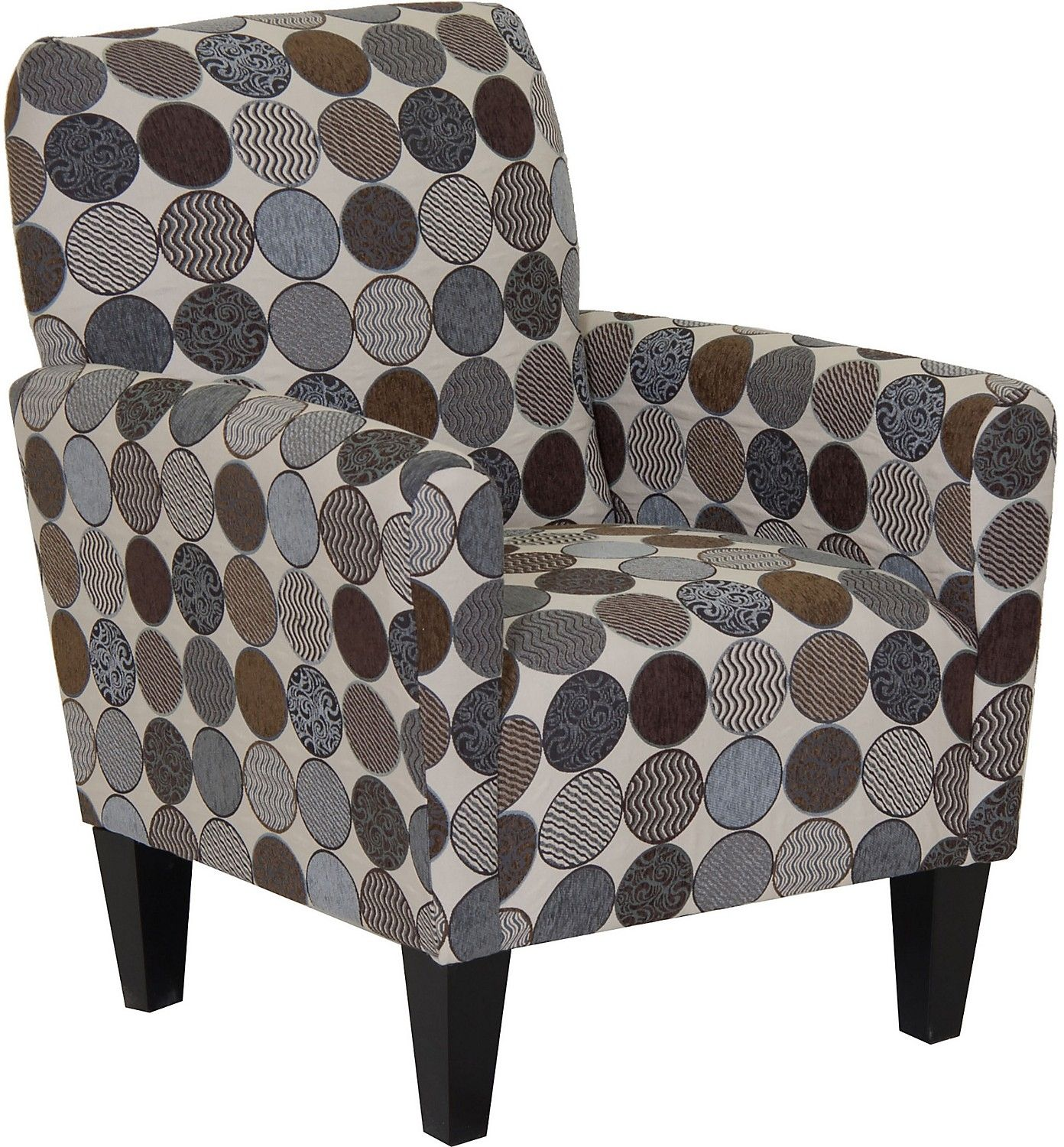 Living Room Furniture Designed2B Polyester Accent Club Chair Spa
