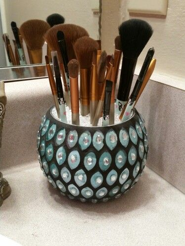 My Makeup Brush Holder Use Any Decorative Wide Mouth
