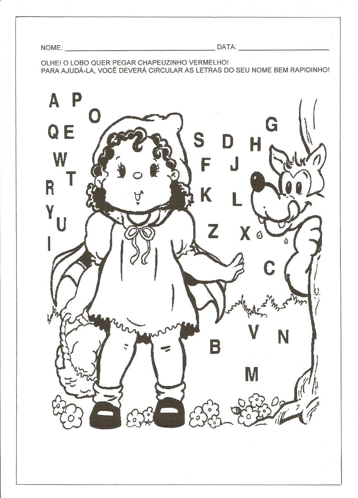 Pin De Michele Silva Em Chapelzinho Atividades Chapeuzinho