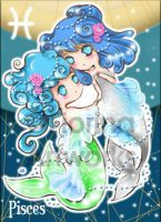 Chibi Starsigns - Pisces by Fiorina-Artworks