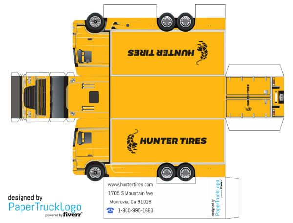 Paper Model Semi Truck Will Make A Papercraft Truck With Your Logo On It For 5 Paper Models Paper Car Paper Model Car