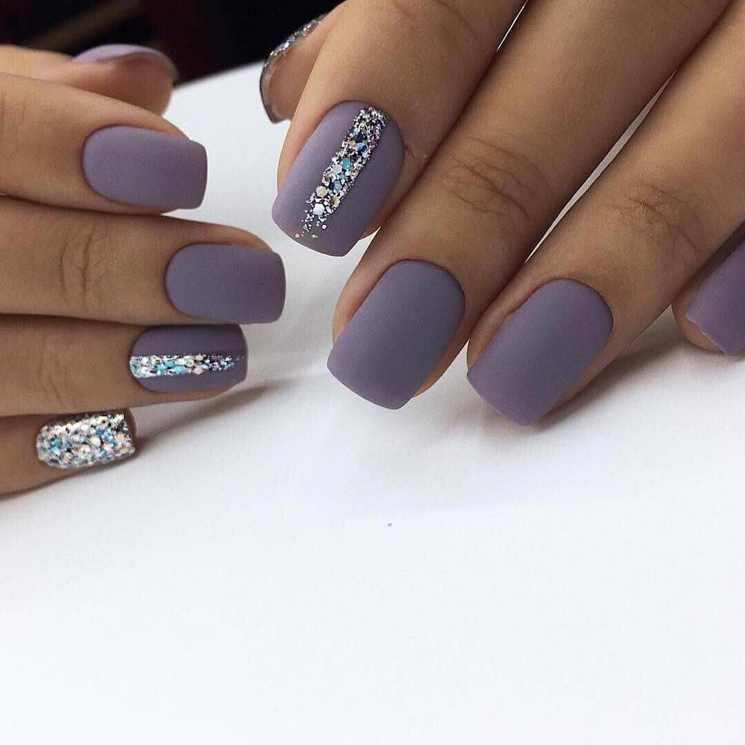 Festive nails, Matte nails, Multicolor nails, Nails with