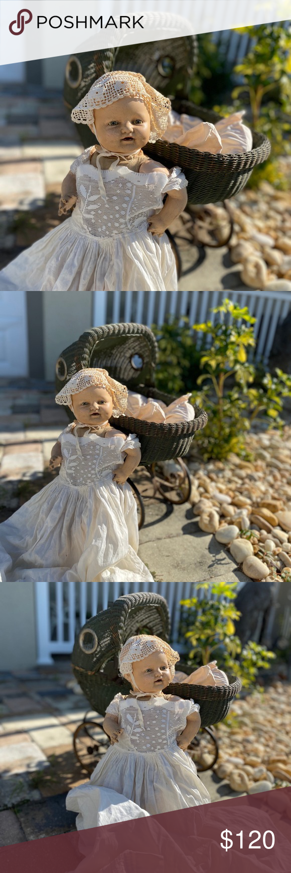 Antique victorian baby doll with pram Excellent condition Other #dollvictoriandressstyles Antique victorian baby doll with pram Excellent condition Other #dollvictoriandressstyles